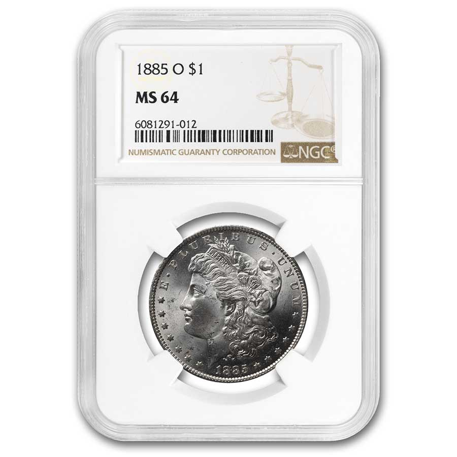 1885-O Morgan Dollar MS-64 NGC